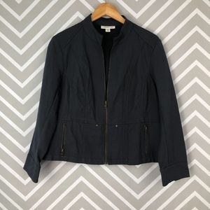 Coldwater Creek Zip Up Utility Jacket Size 16 P